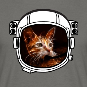 helmet cat Astronaut all above ground cool funny - Men's T-Shirt