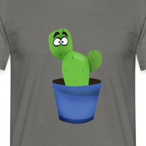 Cactus spines Bart plant comic green eyes funn - Men's T-Shirt