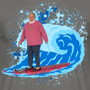 Grand-mère Surfer - T-shirt Homme