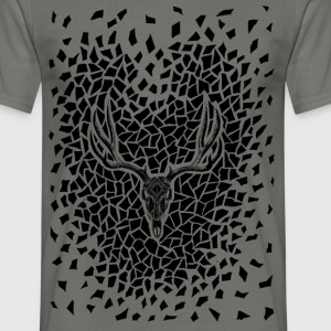deer skull - Men's T-Shirt