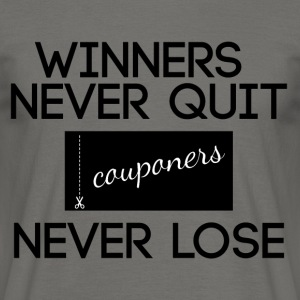Couponing / Gifts: Winnaars nooit stoppen, couponers - Mannen T-shirt