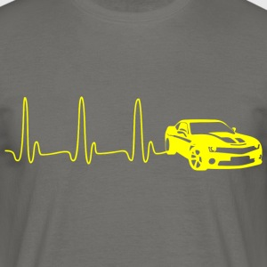 ECG HART LINE SPORTS CAR geel - Mannen T-shirt
