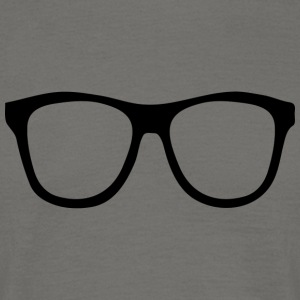 Rimmed Glasses for Nerds Geeks & computer science students - Men's T-Shirt