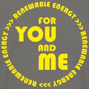 RENEWABLE energy for you and me - yellow - Men's T-Shirt