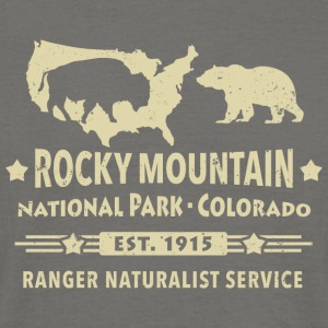 Bison Grizzly Rocky Mountain National Park Berg - T-shirt herr
