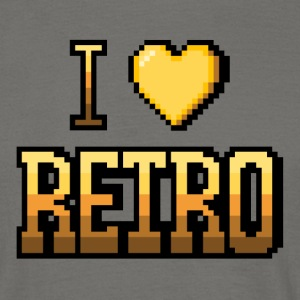 I love jaune RETRO - T-shirt Homme