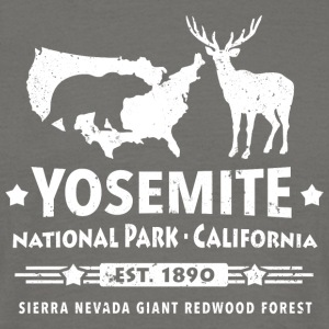 Yosemite National Park California Bear Redwood - Men's T-Shirt