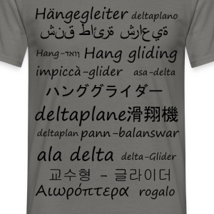 Hang gliding in several languages - Men's T-Shirt