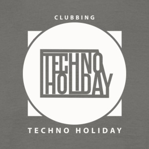 logo_techno_holiday_2017_blanco - T-shirt herr