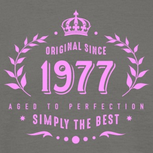 original since 1977 simply the best 40th birthday - Männer T-Shirt
