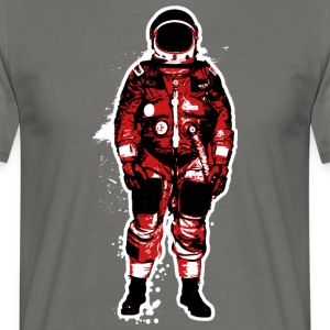 Astronaut Grunge Rouge - T-shirt Homme