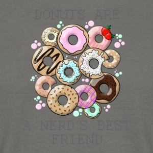 Donuts are a nerd's best friend - gray - Men's T-Shirt