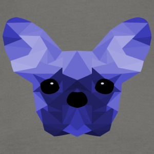 French Bulldog Low Poly Design blue - Men's T-Shirt