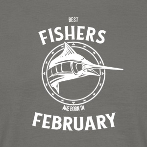 Present for fishers born in February - Men's T-Shirt