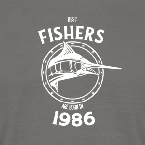 Present for fishers born in 1986 - Men's T-Shirt