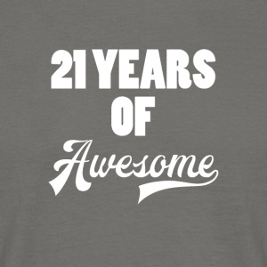 21. Geburtstag: 21 Years of Awesome - Männer T-Shirt