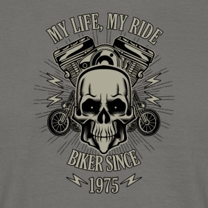 Gift for Biker - built in 1975 - Men's T-Shirt