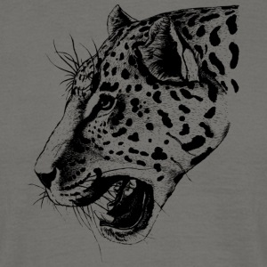 Wild leopard black and withe - Men's T-Shirt