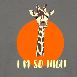 giraffe high level neck big sun animal orange nied - Men's T-Shirt