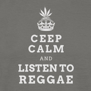CEEP CALM REGGAE (LIGHT LABEL) - Mannen T-shirt
