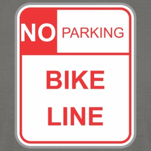 Road sign no parking bike line - Men's T-Shirt