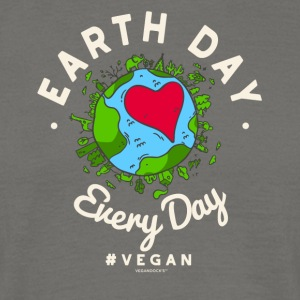 Earth Day Every Day Tshirt #vegan (Compassion) - Männer T-Shirt