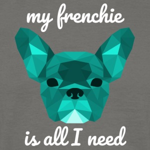 cyan faible Poly Frenchie - T-shirt Homme