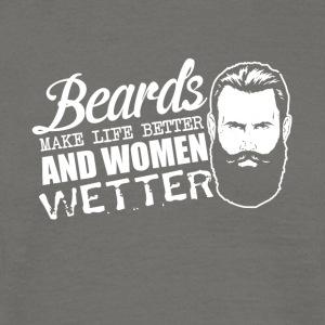 Pun - beards and women - sex, women wet - Men's T-Shirt
