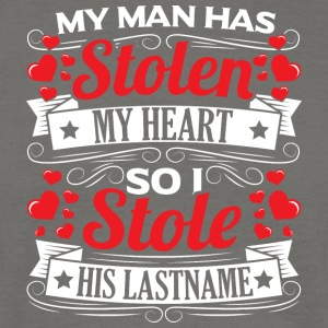 MY MAN HAS STOLEN MY HEART - Men's T-Shirt