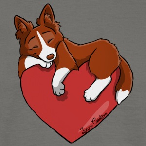Border Collie Red - T-shirt herr