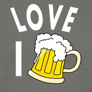 I love beer - Men's T-Shirt