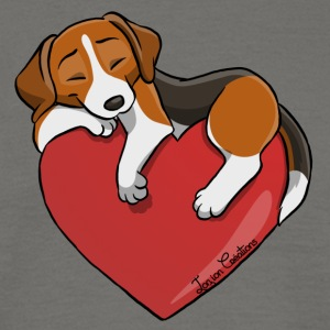 Beagle Heart - Mannen T-shirt