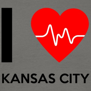 I Love Kansas City - Ich liebe Kansas City - Männer T-Shirt