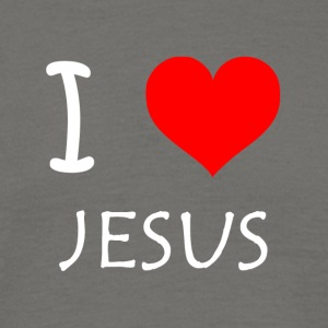 I Love Jesus - T-skjorte for menn