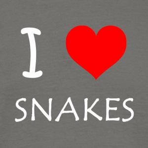 I Love Snakes - T-skjorte for menn