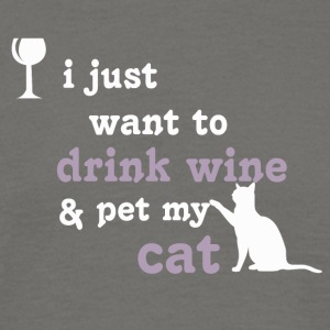 A glass of wine and my cat - Men's T-Shirt