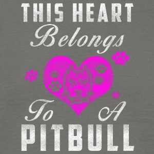 My heart belongs to my Pitbull - Men's T-Shirt