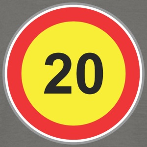 Road Sign 20 yellow - Men's T-Shirt