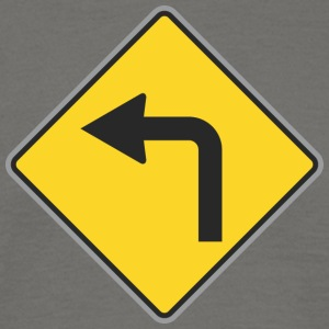Road Sign Left turn - Men's T-Shirt
