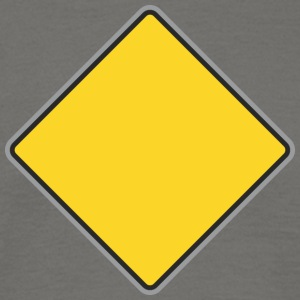 Road Sign geel - Mannen T-shirt