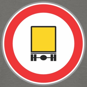 Road sign yellow truck - Men's T-Shirt