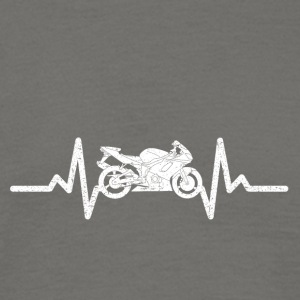 My heart beats for my motorcycle - Men's T-Shirt