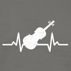 My heart beats for violin - Men's T-Shirt