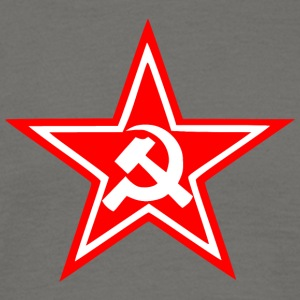 Communist red star flag - Men's T-Shirt