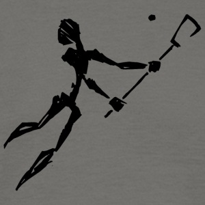 Lacrosse Player Abstract - Mannen T-shirt