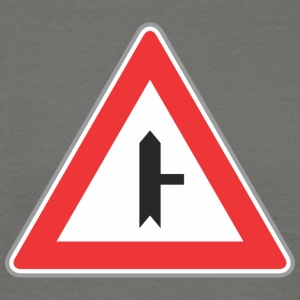 Road Sign right way triangle - Men's T-Shirt