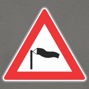 Road Sign windy triangle - Men's T-Shirt