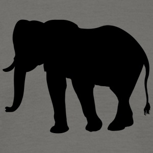 elefant - T-skjorte for menn