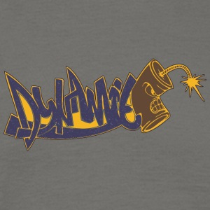 dynamit graffiti yellow back - Men's T-Shirt