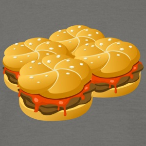 Fire Hamburger - Herre-T-shirt